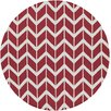 Jill Rosenwald Fallon Red Chevron Area Rug