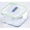 Kinetic Glasslock 2-Cup Square Tempered Glass Container with Sealed Lid