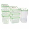 Kinetic Fresh 14 Piece Rectangular Plastic Food Storage Container Set with Sealed Lid