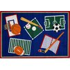 <strong>Fun Rugs</strong> Fun Time Sports A Rama Kids Rug