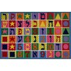 <strong>Fun Rugs</strong> Fun Time Hebrew Numbers and Letters Kids Rug