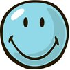 Smiley World Blue Smiley Kids Rug