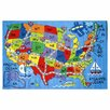 <strong>Fun Rugs</strong> Travel Fun Map Rug