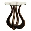 "<strong>Gail's Accents</strong> ""Luxe"" Glass Top End Table"