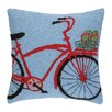 Peking Handicraft INC. Flip Flop on Bike Hook Pillow
