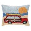 Peking Handicraft INC. Wagon at the Beach Hook Pillow