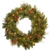 """National Tree Co. Pre-Lit 30"""" Noble Mixed Wreath"""