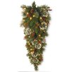 National Tree Co. Wintry Pine Pre-Lit Teardrop Swag with 70 Clear Lights