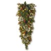 National Tree Co. Wintry Pine Pre-Lit Teardrop Swag with 50 Battery-Operated White LED Lights