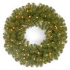 National Tree Co. North Valley Spruce Pre-Lit Wreath with 50 Clear Lights