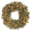 "<strong>Glittery Bristle Pine Pre-Lit 30"" Wreath</strong> by National Tree Co."
