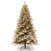 National Tree Co. Snowy Everest 7' White Medium Artificial Christmas Tree with 450 Clear Lights and Stand