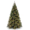 National Tree Co. Tiffany Fir 7.5' Green Artificial Christmas Tree with 700 Pre-Lit Clear Lights with Stand