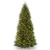 National Tree Co. Dunhill Slim Fir 10' Hinged Green Artificial Christmas Tree with 700 Colored & Clear Lights
