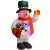 National Tree Co. Pre-Lit Cotton Standing Snowman Christmas Decoration