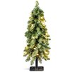 National Tree Co. 2' Green Downswept Artificial Christmas Tree with 50 Colored & Clear Lights