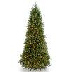 National Tree Co. Jersey Fraser Fir 9' Green Jersey Fraser Slim Fir Artificial Christmas Tree with 1000 Clear Lights and Stand