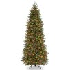 National Tree Co. Jersey Fraser Fir 7.5' Green Artificial Christmas Tree with 650 Colored Lights and Stand
