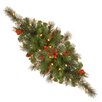 """National Tree Co. Crestwood Spruce Pre-Lit 30"""" Centerpiece with 35 Battery-Operated White LED Lights"""