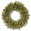 <strong>Douglas Fir Pre-Lit Feel-Real Down Swept Wreath with 50 Clear Lights</strong> by National Tree Co.