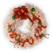 "National Tree Co. Decorative Pre-Lit 24"" Ho Ho Ho Wreath with 50 Battery-Operated White LED Lights"