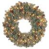 National Tree Co. Oakridge Pre-Lit Feel Real Wreath with Clear Lights