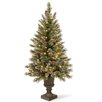 National Tree Co. Glittery Bristle Pine 5' Green Artificial Christmas Tree with 150 Colored & Clear Lights