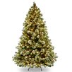 National Tree Co. Wintry Pine 8' Green Artificial Christmas Tree with 800 Clear Lights and Stand
