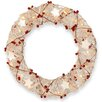 National Tree Co. Pre-Lit Rattan Wreath with 20 Clear Lights