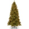 National Tree Co. Douglas Fir 7.5' Green Downswept Slim Fir Artificial Christmas Tree with 600 Pre-Lit Clear Lights with Stand