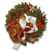 National Tree Co. Plush Pre-Lit Wreath with 35 White LED Lights