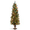 National Tree Co. Crestwood Spruce Entrance 5' Green Artificial Christmas Tree with 150 Pre-Lit Clear Lights with Urn Base