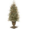 National Tree Co. 4' Green Spruce Artificial Christmas Tree with 100 Clear Lights with Pot