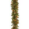 National Tree Co. Wintry Pine Pre-Lit Garland with 100 Clear Lights
