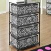 Altra Furniture 4 Bin Storage End Table