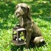 SPI Home Fido Dog Holding Lantern Statue