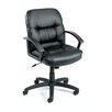 <strong>Mid-Back Leather Ergonomic Managerial Chair</strong> by Boss Office Products