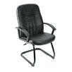 <strong>Leather Guest Office Chair</strong> by Boss Office Products