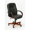 <strong>High-Back Executive Chair with Hardwood Arms</strong> by Boss Office Products