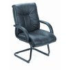 <strong>Boss Office Products</strong> Leather Guest Chair with Upholstered Armrests