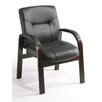 <strong>Boss Office Products</strong> Leather Guest Chair with Hardwood Arms