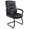 Boss Office Products Leather Guest Chair with Cantilever Sled Base