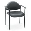 <strong>Contemporary Style Stackable Chair with Arms</strong> by Boss Office Products