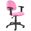 <strong>Mid-Back Office Chair with Adjustable Arms</strong> by Boss Office Products