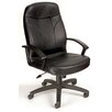 <strong>High-Back Leather Executive Office Chair with Lumbar Support</strong> by Boss Office Products