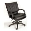 <strong>Modern Mid-Back Leather Executive Chair</strong> by Boss Office Products