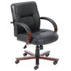 Boss Office Products Mid-Back Italian Leather Office Chair