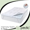 "<strong>BioPEDIC</strong> Memory Plus Deluxe 3"" Memory Foam Clusters and Fiber Topper"