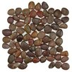 EliteTile Brook Random Sized Natural Stone Unpolished Mosaic in Red