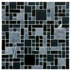 EliteTile Sierra Random Sized Polished Glass and Stone Mosaic in Versailles Bizancio